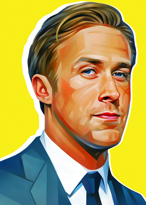 Ryan Gosling Portrait Illustration
