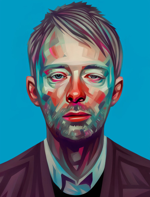Thom Yorks Portrait Illustration