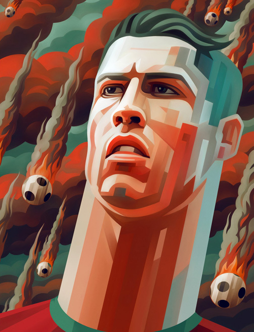 Cristiano Ronaldo Portrait Illustration