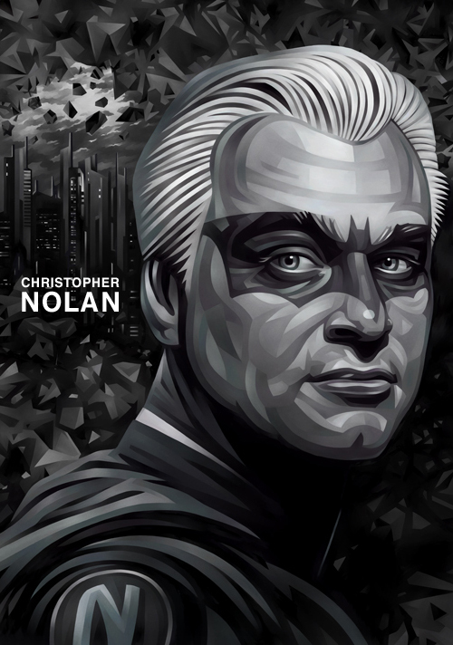 Christopher Nolan Portrait Illustration