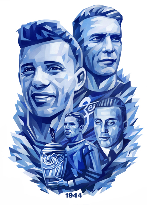 Illustrations for Football Club Zenit Portrait Illustration