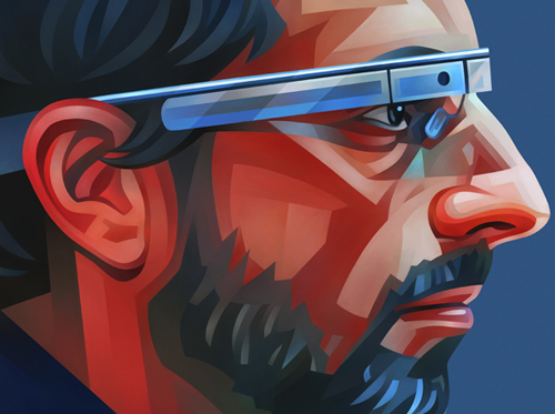 Sergey Brin Portrait Illustration
