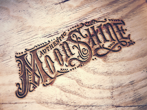 Engraved Wood Mock Up PSD files