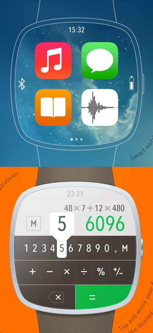 iWatch Template PSD files