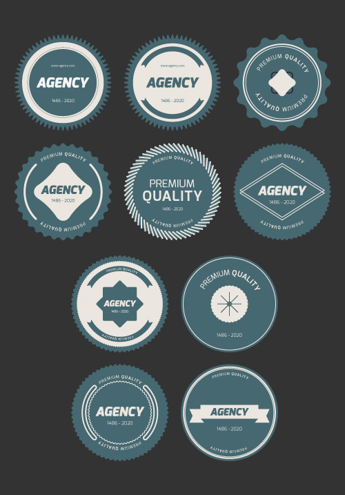 Flat Vector Badges PSD files