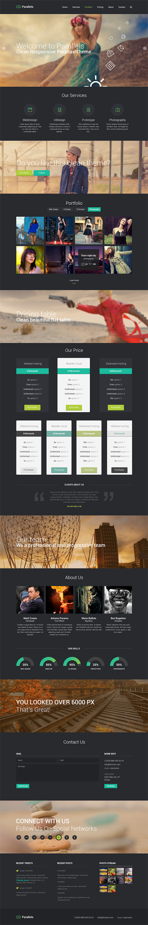 Free PSD Responsive Template PSD files