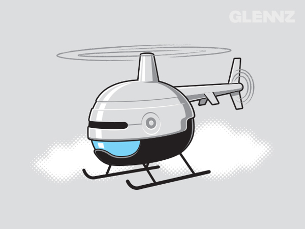 Robocopter T-Shirt Illustrations