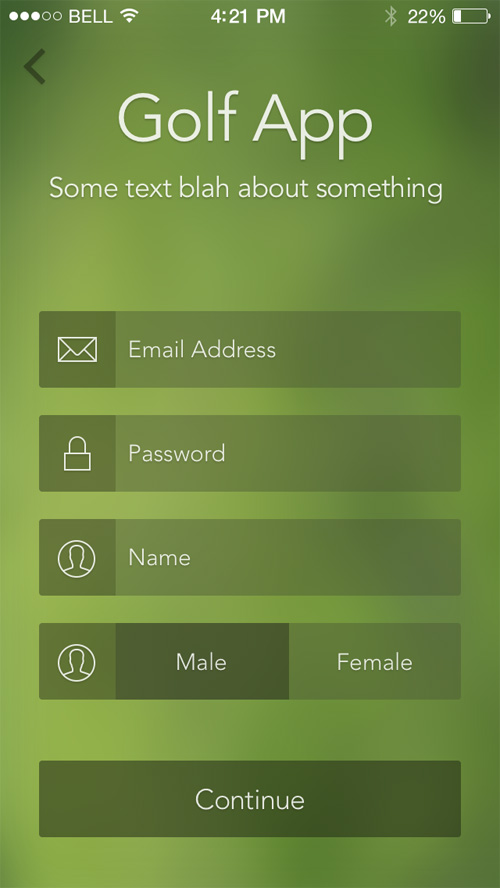 Sign Up Screen App Ui Designs Inspiration Graphic
