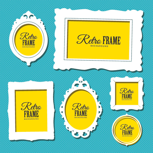 Retro Frames Vector Graphic
