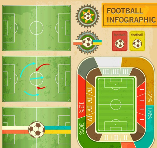 Soccer Infographic Design Elements