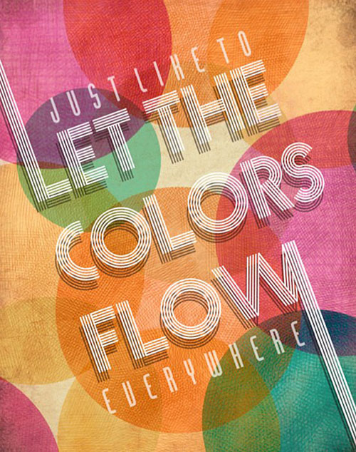 Let the Colors Flow typography by Karla Hernandez