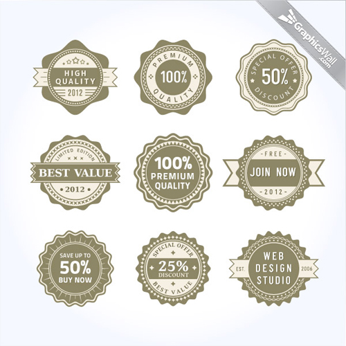 Vector Badges and Labels