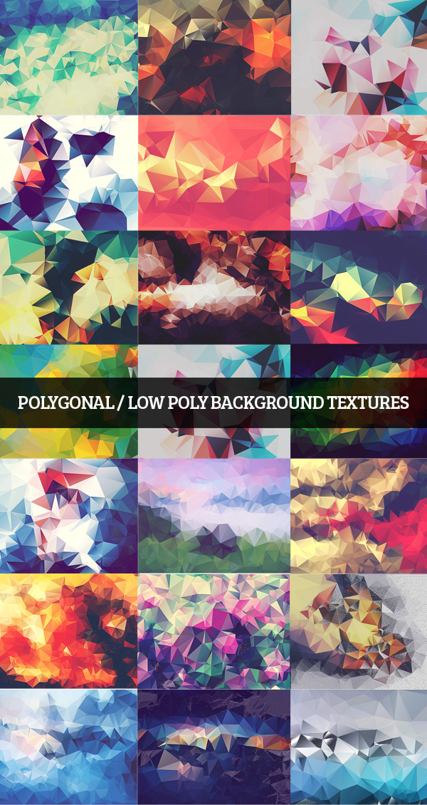 Polygonal / Low Poly Background Textures