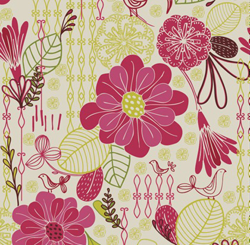 Retro Floral Pattern Seamless Background Vector