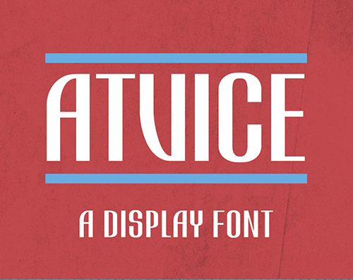 ATViCE free fonts