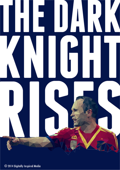 Andres Iniesta Lowpoly Poster