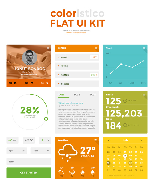 Coloristico Flat Ui Kit