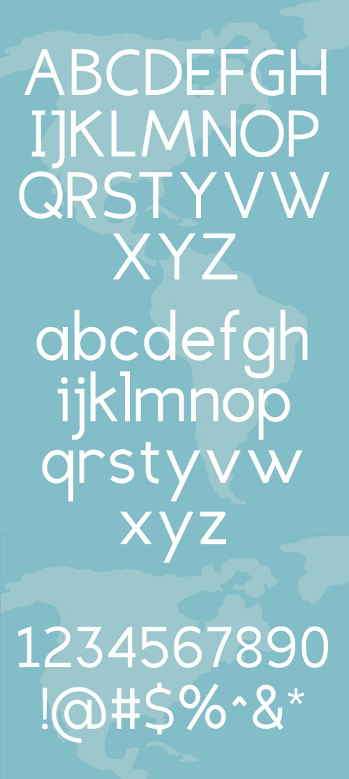 Eligible Sans fonts glyphs