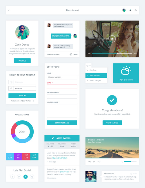 Free Photoshop PSD UI Kits & Elements for Designers | Design ...