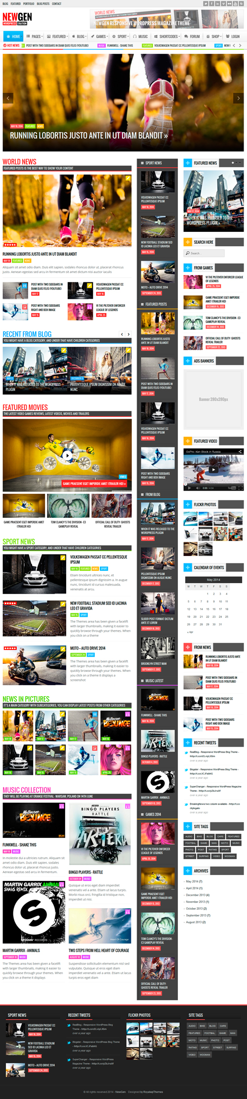 Newgen - Responsive News/Magazine WordPress Theme