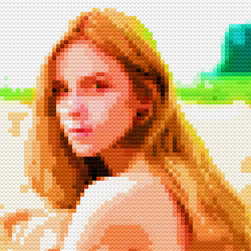 How to Make Lego Mosaic Portrait in Photoshop