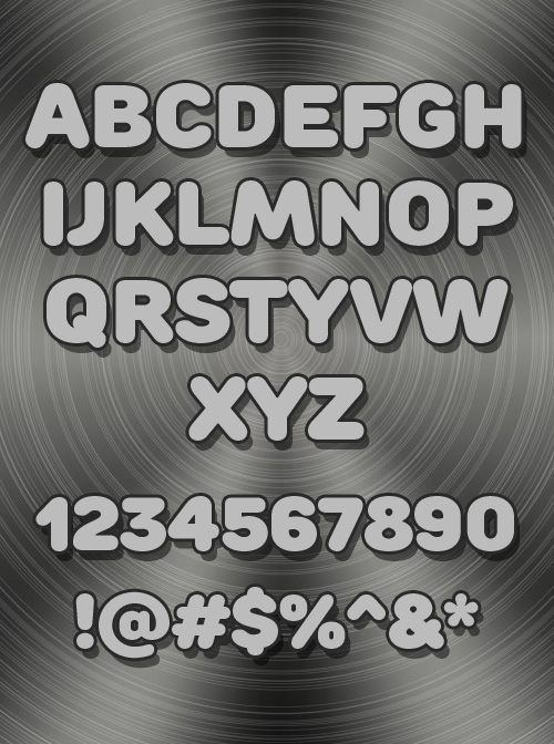 Rounds Black fonts glyphs