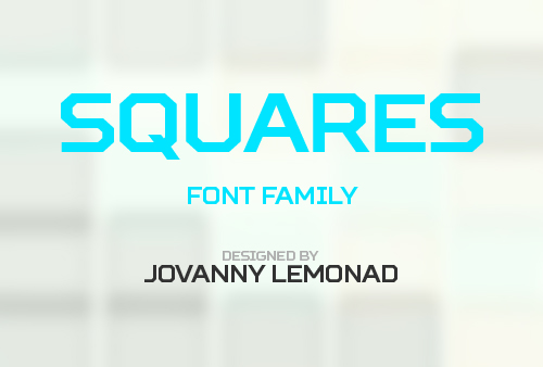 Squares free fonts
