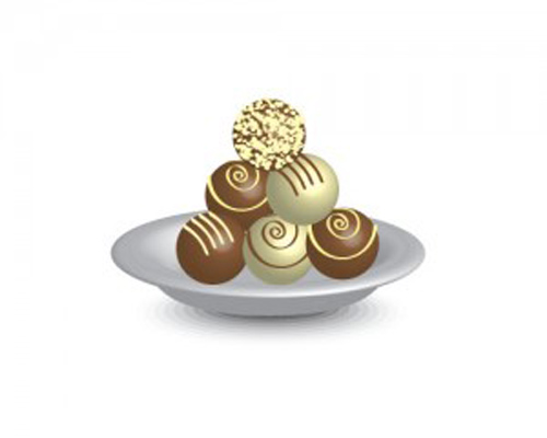 How to create a plate of chocolate truffles using Adobe Illustrator