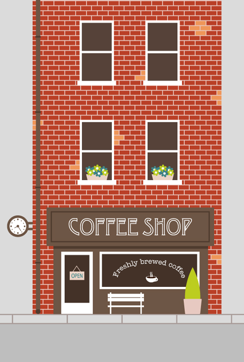 How to Create an Easy Coffee Shop Facade in Adobe Illustrator