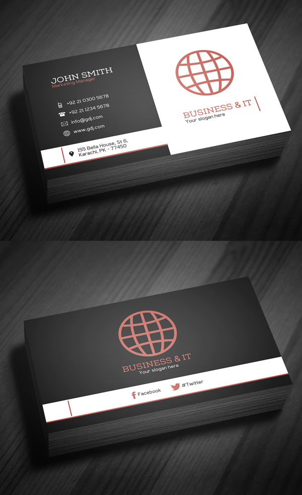 Corporate Business Card Template PSD -  6