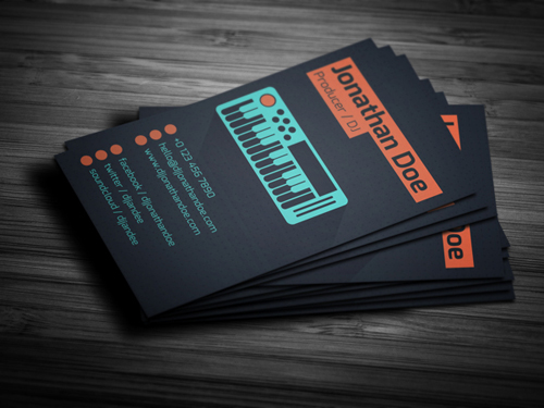 Beautiful gorgeous business cards for graphic designer flat producer dj business card colourmoves