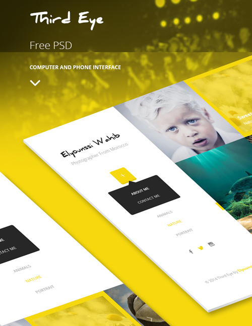 Third Eye - Free Theme PSD
