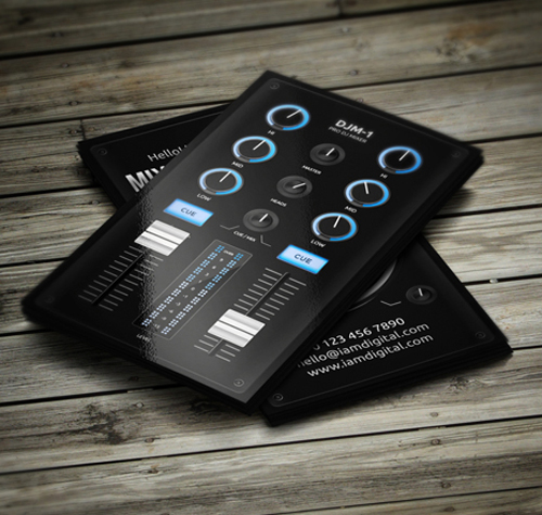 Beautiful gorgeous business cards for graphic designer digital dj business card colourmoves