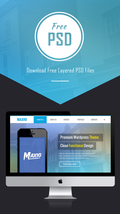 Free PSD Multipurpose Website