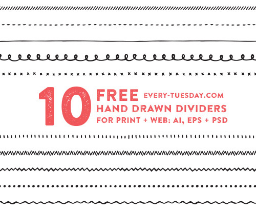 Hand Drawn Vector Dividers