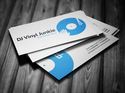 Vinyl DJ Business Card