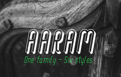 Aaram free fonts for designers