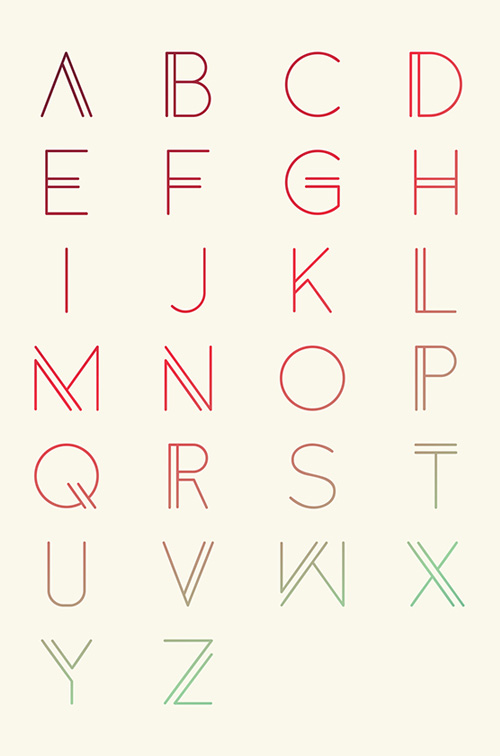 Anders Free Font Letters