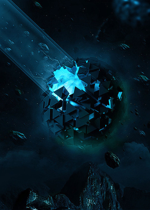 Create Exploding 3D Planet in Cinema 4D and Photoshop