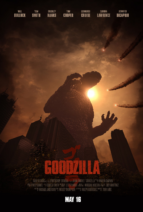 Create an Epic Godzilla-Inspired Movie Poster in Adobe Photoshop