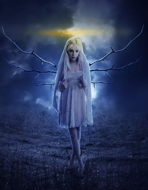How to Create a Beautiful Moonlight Angel Photo Composite