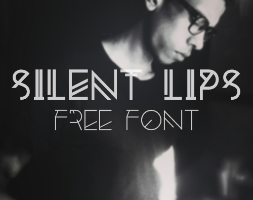 Silent Lips free fonts for designers