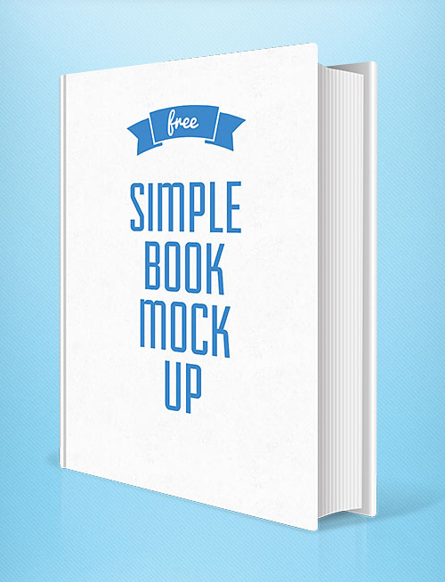 Simple Book Cover Number ~ Free photoshop psd mockups for graphic designers