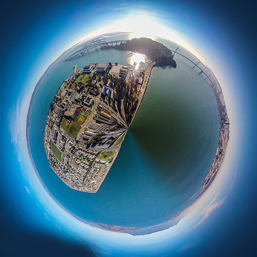 How to create a tiny planet in Photoshop using aerial panorama photos from a quadcopter drone