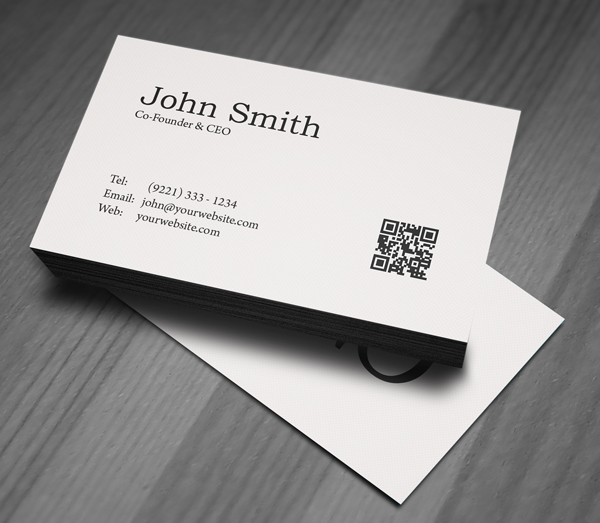 business card presentation template psd - free minimal business card psd template freebies