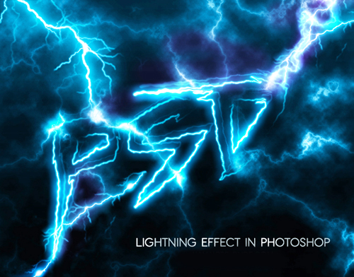 How to Create Lighting Text Effect in Photoshop Tutorial