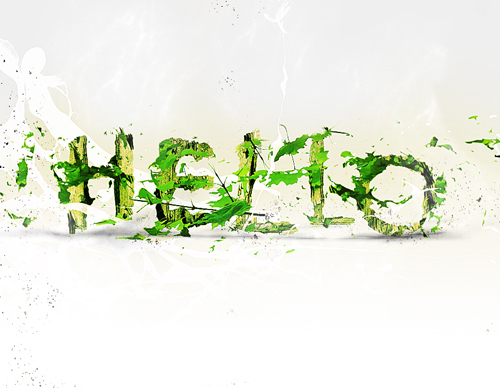 Create Leafy Text Effect in Photoshop Tutorial