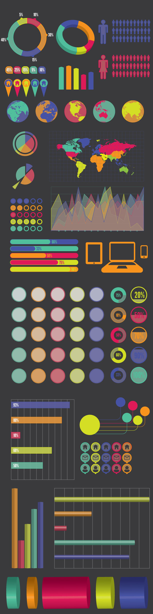 Free Infographics Vector Elements and Infographics Vector Graphics - 12