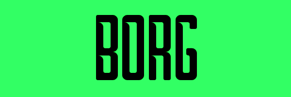 Borg Font Free Download