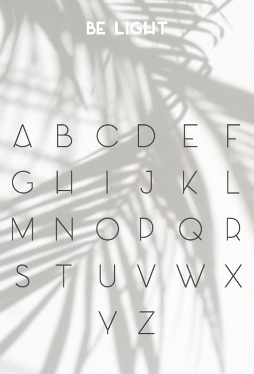 Azedo free font letters